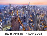 aerial view of the skyline of...   Shutterstock . vector #741441085