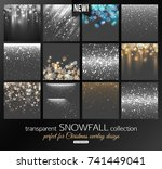 transparent snowfall collection ... | Shutterstock .eps vector #741449041