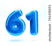 blue glossy celebrate letter... | Shutterstock . vector #741458551