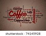 wordcloud of coffee | Shutterstock .eps vector #74145928