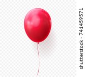 red balloon vector illustration ... | Shutterstock .eps vector #741459571