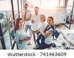 multiracial young creative... | Shutterstock . vector #741463609