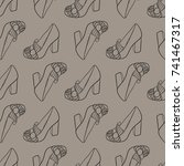 shoes  pattern  vector... | Shutterstock .eps vector #741467317