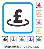 pound location icon. flat grey...