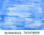 abstract painted golden... | Shutterstock . vector #741478099