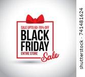 black friday sale. new creative ... | Shutterstock .eps vector #741481624
