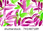 hand made watercolor floral... | Shutterstock . vector #741487189