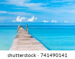 living is easy jetty to the... | Shutterstock . vector #741490141