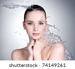 beautiful healthy woman with... | Shutterstock . vector #74149261