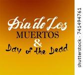 dia de los muertoa and day of... | Shutterstock .eps vector #741494761