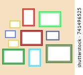 a set of retro frames for... | Shutterstock .eps vector #741496525