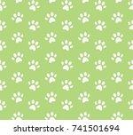 vector animal footprint... | Shutterstock .eps vector #741501694