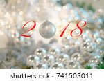 concept of merry christmas and... | Shutterstock . vector #741503011