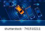 smart car is automatically... | Shutterstock . vector #741510211