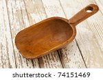 Empty Wooden Rustic Scoop On A...