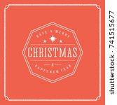 merry christmas vector text... | Shutterstock .eps vector #741515677