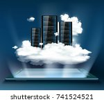 cloud computing. server for... | Shutterstock .eps vector #741524521