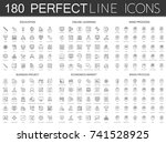 180 modern thin line icons set... | Shutterstock .eps vector #741528925