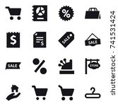 16 vector icon set   cart ... | Shutterstock .eps vector #741531424