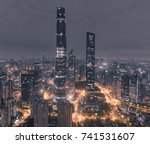 aerial view of skyscrapers at... | Shutterstock . vector #741531607