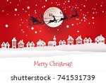 paper cut and craft winter... | Shutterstock .eps vector #741531739