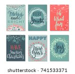 collection of six christmas... | Shutterstock .eps vector #741533371