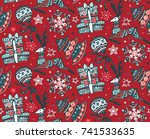 vector seamless pattern with... | Shutterstock .eps vector #741533635