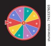 wheel luck fortune. wheel of... | Shutterstock .eps vector #741537805