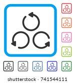 rotation icon. flat gray...
