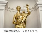 antique themis  lady justice ... | Shutterstock . vector #741547171