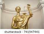 antique themis  lady justice ... | Shutterstock . vector #741547441