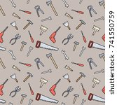 tools background   seamless... | Shutterstock .eps vector #741550759