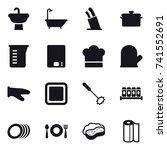 16 vector icon set   bath ... | Shutterstock .eps vector #741552691