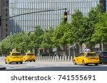 9 11 memorial rows of fresh... | Shutterstock . vector #741555691