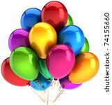 party balloons happy birthday... | Shutterstock . vector #74155660