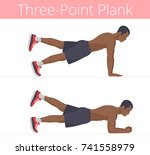 the sporty naked to the waist... | Shutterstock .eps vector #741558979