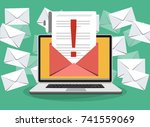 laptop with envelope and... | Shutterstock .eps vector #741559069