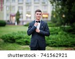 portrait of a handsome young... | Shutterstock . vector #741562921