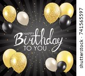 abstract happy birthday... | Shutterstock .eps vector #741565597