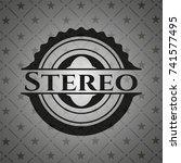 stereo black emblem. vintage.   Shutterstock .eps vector #741577495