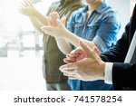 business team success. business ... | Shutterstock . vector #741578254