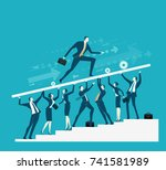 team of successful business... | Shutterstock .eps vector #741581989