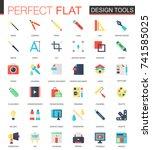 vector set of flat app design... | Shutterstock .eps vector #741585025