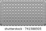 black and white relief convex... | Shutterstock . vector #741588505