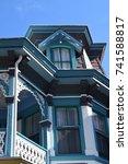 victorian architecture in cape... | Shutterstock . vector #741588817