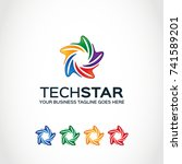this is a star logo used for... | Shutterstock .eps vector #741589201