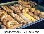 pastries and variety of baked... | Shutterstock . vector #741589255