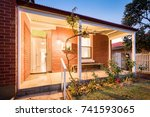 front elevation of an older... | Shutterstock . vector #741593065