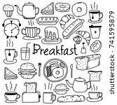 line hand drawn doodle vector... | Shutterstock .eps vector #741595879