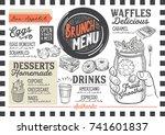 brunch food menu for restaurant ...   Shutterstock .eps vector #741601837